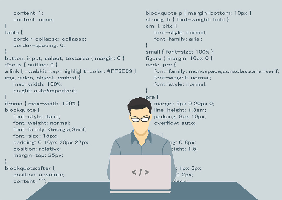 Ilustracija CSS programiranja