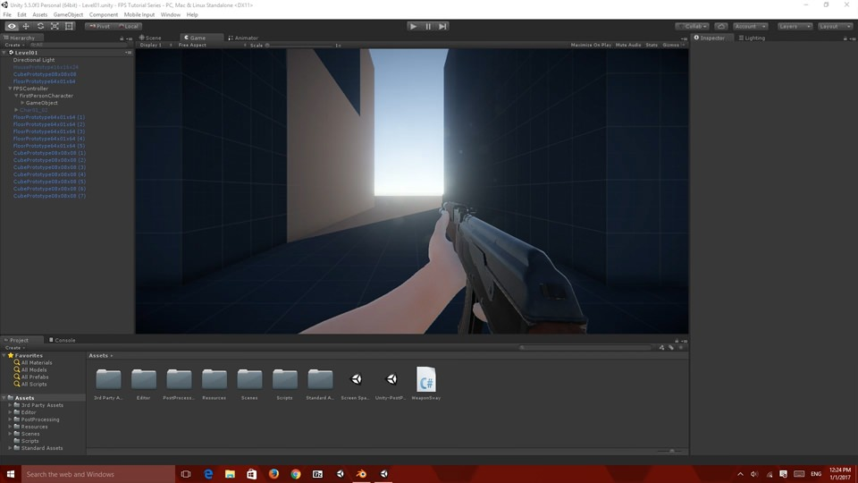 Screenshot rada u Unity editoru