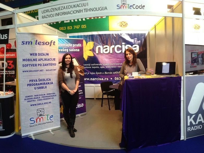 Booth at International trade fair held in Paracin