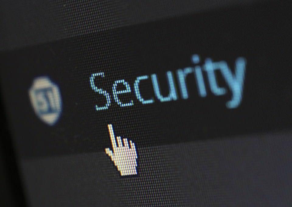 Ikona ruke preko linka Security