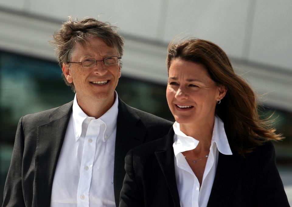 Bil Gejts sa suprugom Melindom