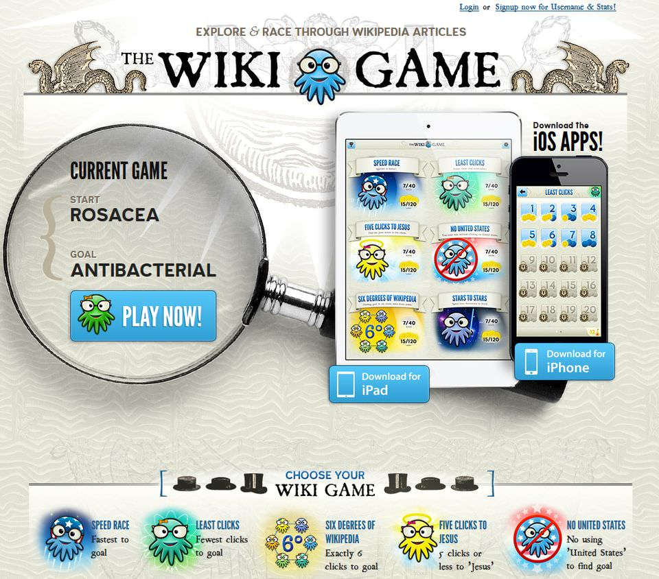 Screenshot The Wiki Game