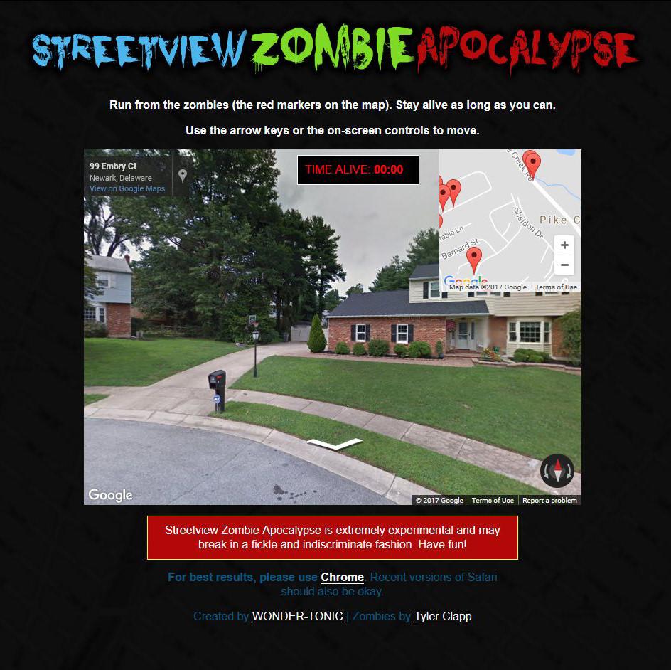 StreetView Zombies